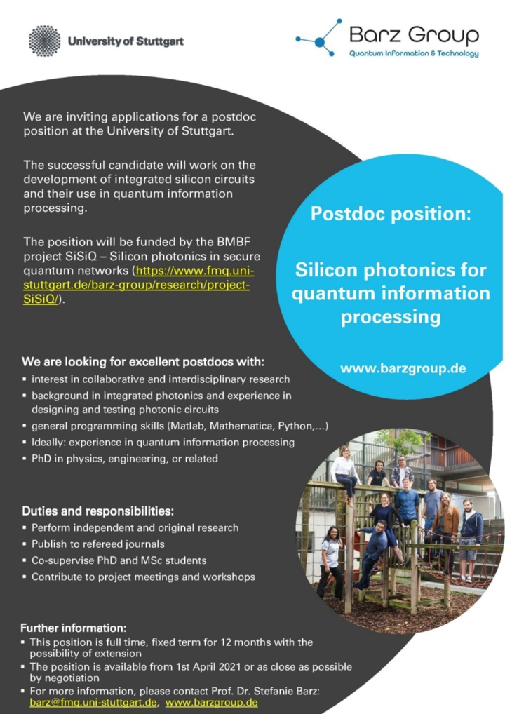 Postdoc position: Silicon photonics